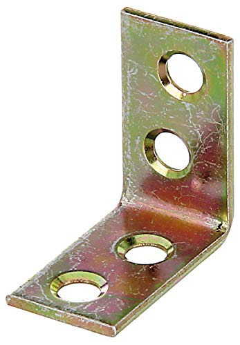 GAH-Alberts 339463 Stuhlwinkel | galvanisch gelb verzinkt | 25 x 25 x 14 mm | 50er Set