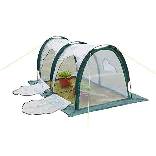 DDLL Invernadero de plástico, 200 x 100 x 100 cm Casa Verde para el jardín, de pie, Transpirable, Resistente a la corrosión, la Cubierta Vegetal Grow Abrigo de la Tienda del jardín de Flores