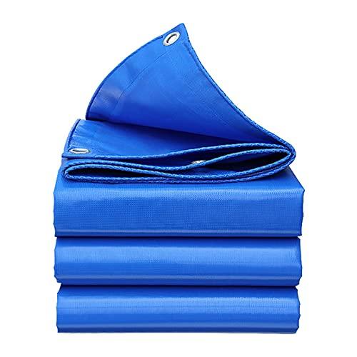 Lonas, Cubierta de Lona Impermeable Grande, Lona de Tela de Malla de PVC Resistente con Ojales, Lona Exterior para Piscinas, Barcos, Coches y Camiones, Azul (Size : 2 * 6m/6.5 * 19.6ft)
