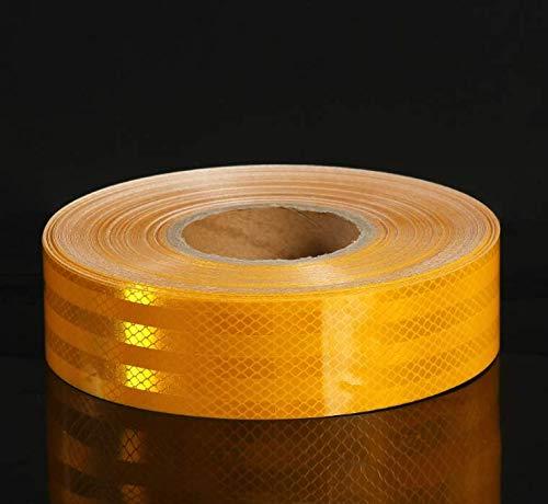 Reflektierendes Band, 5 cm x 10 m Reflektierende Warnbänder Aufkleber Selbstklebend Für Auto LKW Motorrad Boot Fahrradanhänger Wohnmobil Balance Auto Helm Zaun Taschen Outdoor | Gelb