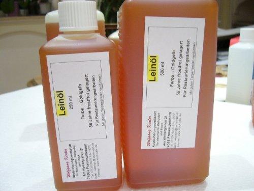 Leinöl 250 ml für feine Ölfarben und zum ölen von Holz