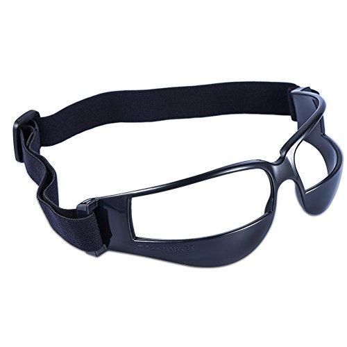 VOOYE Langlebig Basketball Dribble Dribbeln Spezifikationen Brillen Brille Basketball Skill Training Hilfe für Kinder über 6, Schwarz