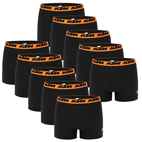 KTM 10 er Pack Boxer Men Herren Boxershorts Pant Unterwäsche, Farbe:Black, Bekleidungsgröße:XXL