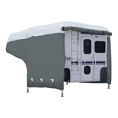Classic Accessories OverDrive PolyPRO 3 Deluxe Camper Cover, Fits 10' - 12' Campers - Max Weather Protection with 3-Ply Poly Fabric Roof RV Cover (80-037-153101-00)