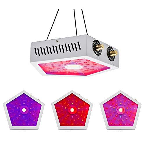 Kroxmind 1000W LED Grow Light with Adjustable Light Intensity, Full Spectrum COB LED Grow Light for...