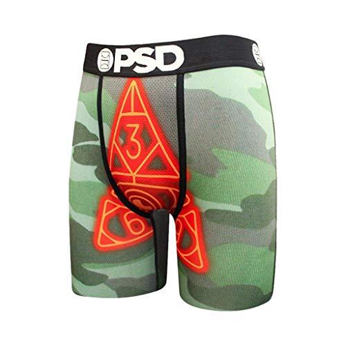 PSD Men's Brief Underwear Bottom (Green/Kyrie Irving, L)