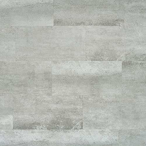 Bestlaminate Livanti Stone Concrete Light 12'x 24' Tile Flooring - 4mm - 20mil Wear Layer - Luxury SPC Vinyl Plank [Sample]