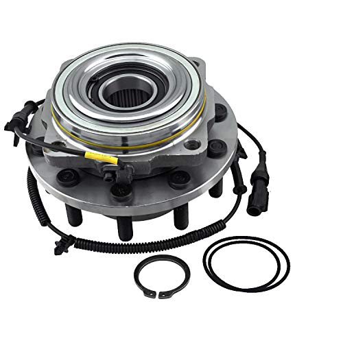 Detroit Axle - 4WD Front Wheel Hub and Bearing w/ABS Replacement for 2011-2016 Ford F-450 Super Duty Cab Chassis