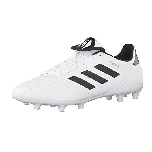 adidas Herren Copa 18.3 FG Fußballschuhe, Weiß (Footwear White/Core Black/Tactile Gold Metallic), 40 2/3 EU
