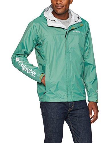 Columbia Chubasquero Pfg Storm™ para hombre, Hombre, 1645571, Verde Tomillo, Gris Fresco, XL