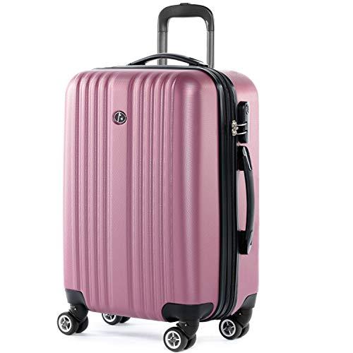 FERGÉ Handbagage Koffer TOULOUSE premium harde spinner premium bagage-koffer roze