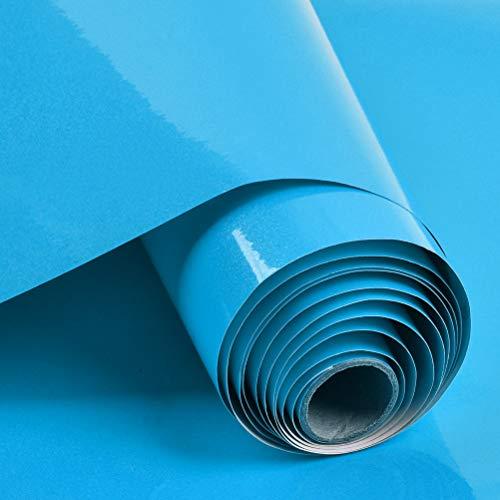 N \ A THETHO Papel Pintado Autoadhesivo Azul Papel Adhesivo Impermeable 40x300cm Vinilos para Muebles Cocina Pared Paed Armario Baño