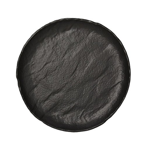 GOURMET plaat CM.26 van zwart porselein Saturnia Vulcania