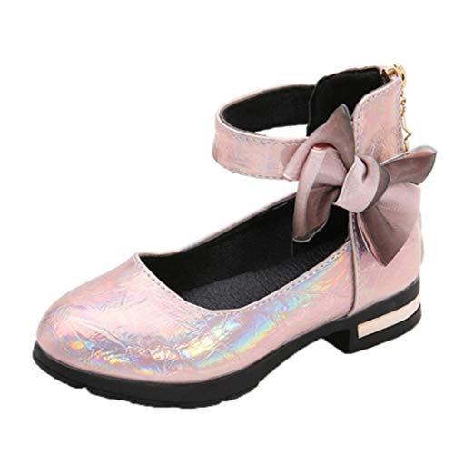 Zapatos de Princesa para niños con Plataforma Antideslizante para Fiesta de Boda...