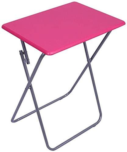 Regulable en altura mesa pesada mesa plegable portátil de mesa sencilla tabla,Rose Red