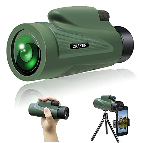 Monocular Telescope 12X50 High Power HD Monocular- BAK4 Prism &FMC Lens Clear and Bright With Smartphone Holder & Tripod Waterproof With For Hiking, Hunting, Sightseeing, Bird Watching, Concert,Match
