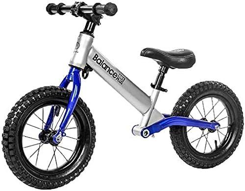 HOQTUM Kinder Balance Bikes Kein Pedal Alter 2-6 Rennen Gehen fürrad Lernen für Jungs mädchen Aufblasbare Reifen Verstellbarer Sitz (Farbe   B)