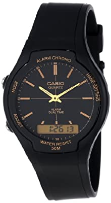 Casio Men's AW90H-9E Sport Multi-Function Black Dial Dual Time Watch