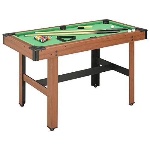 vidaXL Billardtisch 4 Fuß mit Billiardqueue Kreide Dreieck Kugelset Bürste Pool Billiard Billard Tisch Billiardtisch 122x61x76cm Braun