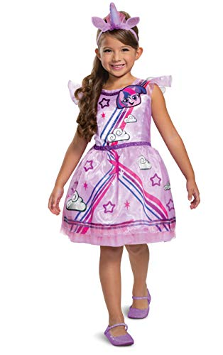 Disguise Twilight Sparkle Costume, My Little Pony Outfit for Girls, Children's Character Dress, Classic Kids Size Small (4-6x) Purple