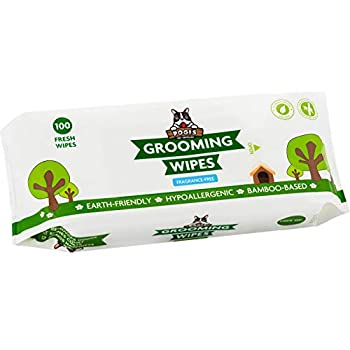Pogi s Grooming Wipes - 100 Hypoallergenic Pet Wipes for Dogs & Cats - Plant-Based Fragrance-Free Deodorizing Dog Wipes
