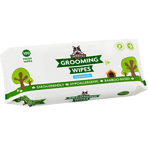 Pogi's Grooming Wipes - 100 Hypoallergenic Pet Wipes for Dogs & Cats -...