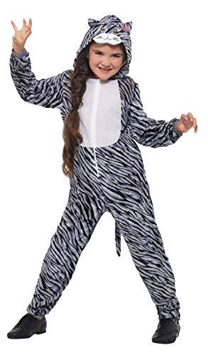 SMIFFY 'S 49702s gestromt Katze Kostüm, grau, S–UK Alter 4–6Jahre