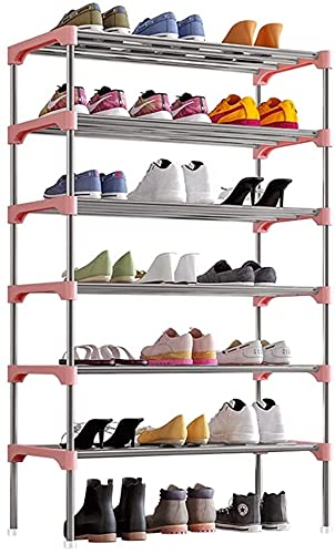 Archil Shoe Rack Simple Multi-Capa Zapato Estante Ajustable Zapato Estante Almacenamiento Organizador Apilable Zapato Torre para la sala de estar Entrada Soporte de zapato de pasillo (color : Azul, ta