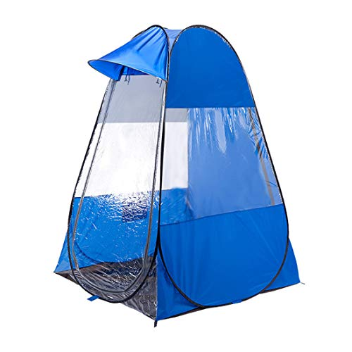 Likary Original Design Outdoor Sports Tent Sun Shelter Weather Pod Single Person Portable Tent Rainproof & Windproof Double Doors Sports Pop Up Tent (Blue)