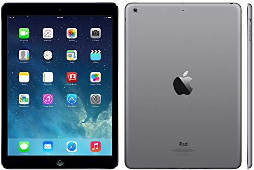 Apple iPad Air 16GB Wi-Fi - Space Grey with Black Flip Case (Renewed)