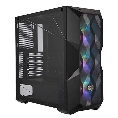 Cooler Master MasterBox TD500 Mesh - ARGB-PC-Gehäuse mit 3 vorinstallierten Lüftern (120 x 120 mm), gehärteter Glas-Seitenwand, Flexible Luftstromkonfigurationen