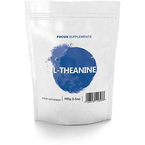 FS Reines L Theanin Pulver 100g Ohne Zusatzstoffe   L Theanine Nootropic zur Konzentrationsförderung   Ohne GVO   Allergen, Milch und Gluten Frei   Hergestellt in ISO-Zertifizierten Betrieben
