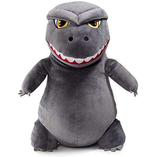 SKYLULU GodzillaPuppe, DinosaurierMonsterPlüschtier, CartoonMonster, MonsterKönigspuppe, graues Geburtstagsgeschenk, Weihnachtsgeschenkdekoration
