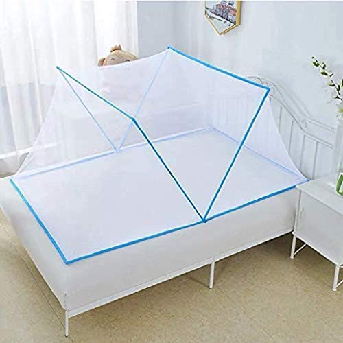 Foldable Mosquito Net Tent,Mosquito Net Bed Pop Up Double Door Mosquito for Bed Camping Travel Home Outdoor,Portable Dustproof Adults Baby Mosquito Net (Kids 1286850cm/50.4026.7719.70in,Blue)