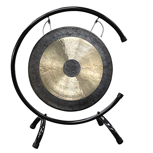 Vinbcorw Großer Gong Gong toller Klang -Yoga Heilung Sinfonieorchesters klingen sehr inklusiv Holz-/Baumwollklöppel/C Rahmen,60cm