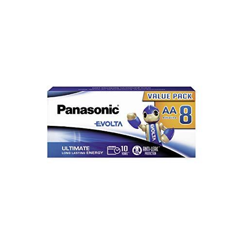 Oferta de Panasonic EVOLTA Pila alcalina AA Mignon LR6 1.5 V, Energía de duración larga, Paquete sin plástico con 8 Unidades