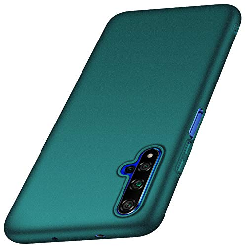 Huawei Honor 20 Hülle, Huawei Nova 5T Hülle [Serie Matte] Elastische Schockabsorption und Ultra Thin Design für Huawei Honor 20 / Nova 5T (Kies Grün)