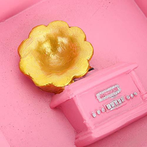 SALUTUY Cenicero de Oficina con Forma de fonógrafo Ligero y portátil, Flexible y, como un Buen Regalo para el día del Padre(Pink)