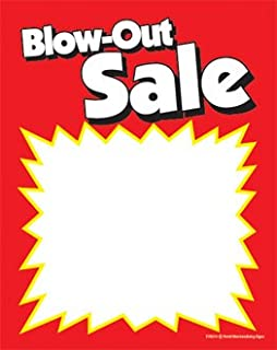 SYC214 - Blow Out Sale - Red Yellow Slotted and Punched Sale Price Tags with Center Slit - (100 Per Pack) (3 1/2