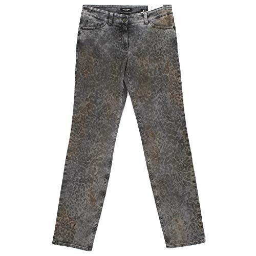 Gerry Weber, Roxy, Damen Damen Jeans Hose Superstretch Grey Leo Print D 36R Inch 29 L 32 [18838]