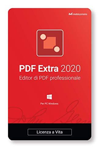 PDF Extra 2020 – PDF Editor Professionale – Modifica, Proteggi, Annota, Compila e firma PDF - 1 PC/ 1 Utente/ LICENZA A VITA
