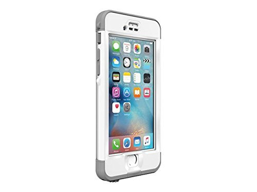 Lifeproof compatible for iPhone 6s Plus, NÜÜD SERIES Waterproof Case, Avalanche (BRIGHT WHITE/COOL GREY) (Renewed)