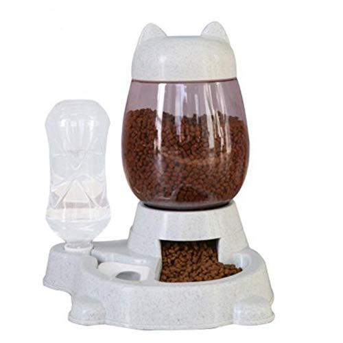 Varadyle Gris Pet Dog Alimentador automático Bowl para perros Botella de agua potable Kitten Bowls Lenta Alimentación Contenedor Suministros