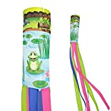 Madrona Brands Charming Frogs on Lily Pads Windsock - Outdoor Durable Hanging Decoration 60-Inch