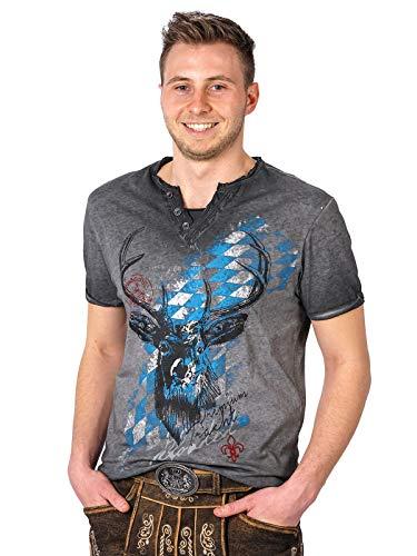 Hangowear Trachten T-Shirt Ferdi Bavaria grau, L