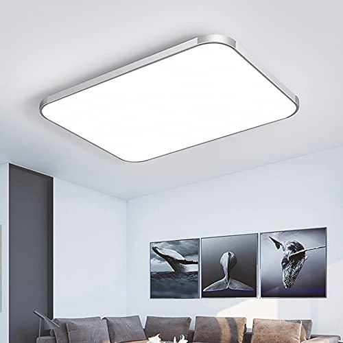 Lampada da soffitto a LED, 72 W, rettangolare, moderna, ultra sottile, 72 Watt, luce bianca calda, per soggiorno, camera da letto, cucina e ufficio