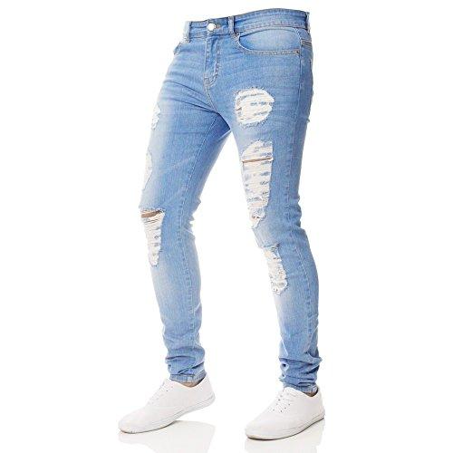 Tomatoa Jeanshosen,Skinny Herren Jeanshose,Denim Jeans Streetwear Destroyed Used Stretch Jeans Denim Slim Fit Zerrissene Jeans Jogginghose Sporthose Bodybuilding