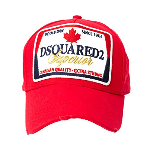 DSQUARED2 D2 Superior Red Originele Canadaon Baseball Cap Trucker Cap muts