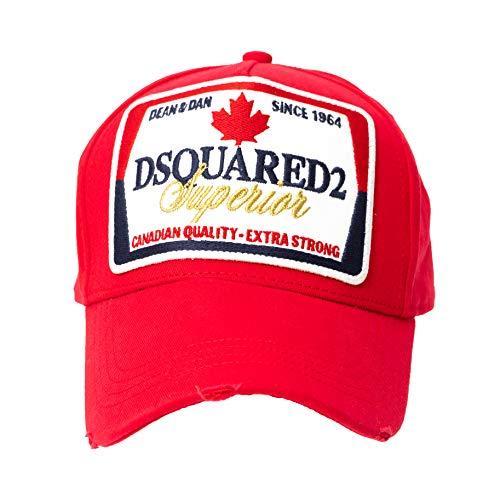 DSQUARED2 D2 Superior Red Originele Canadaon Baseball Cap Trucker Cap muts