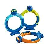 Zoggs Anneaux de plongée Zoggy (Paquet de 3) Jouet de Piscine Jeunesse Unisexe, Assorti, 3 Ans et Plus